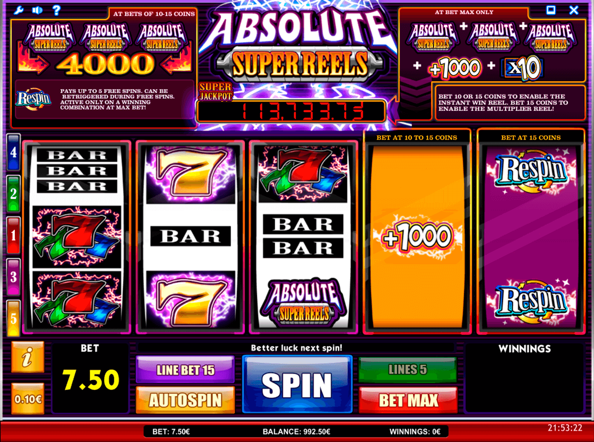 absolute super reels isoftbet