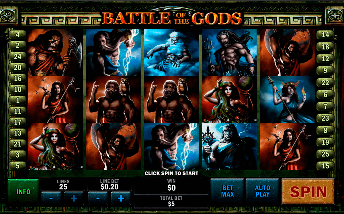 battle of the gods playtech