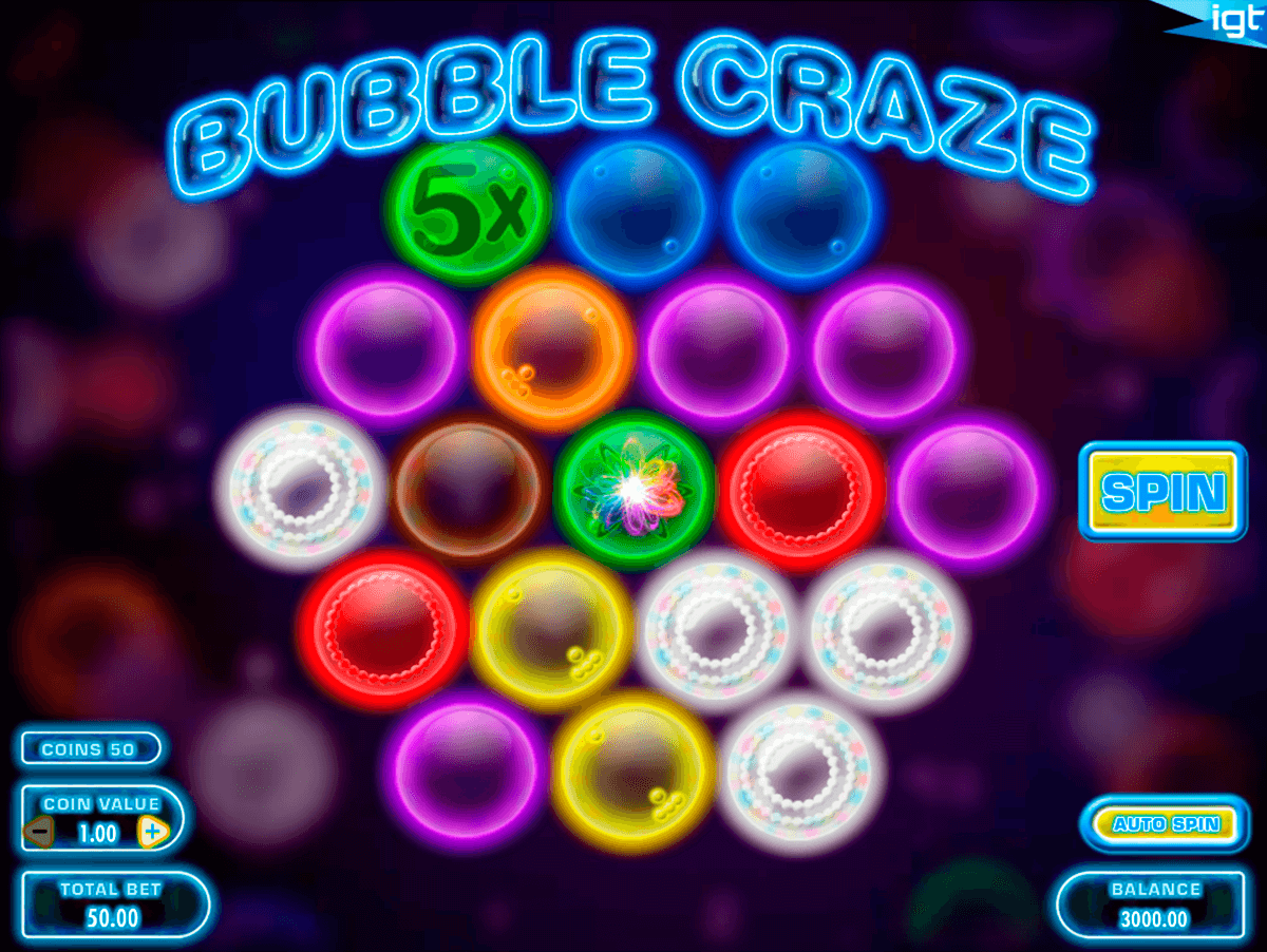 bubble craze igt