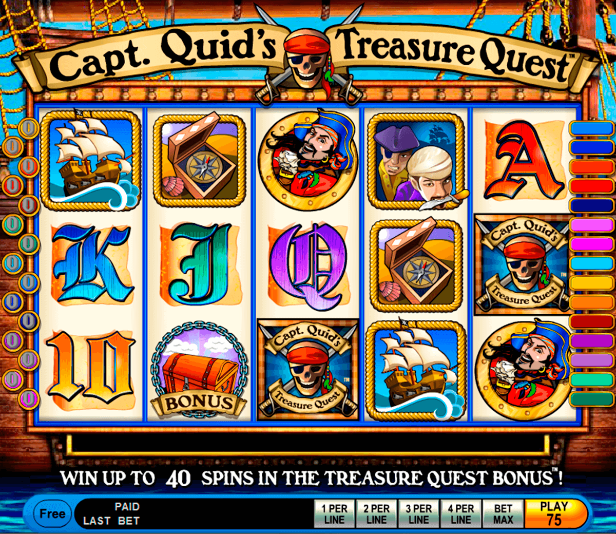 capt quids treasure quest igt