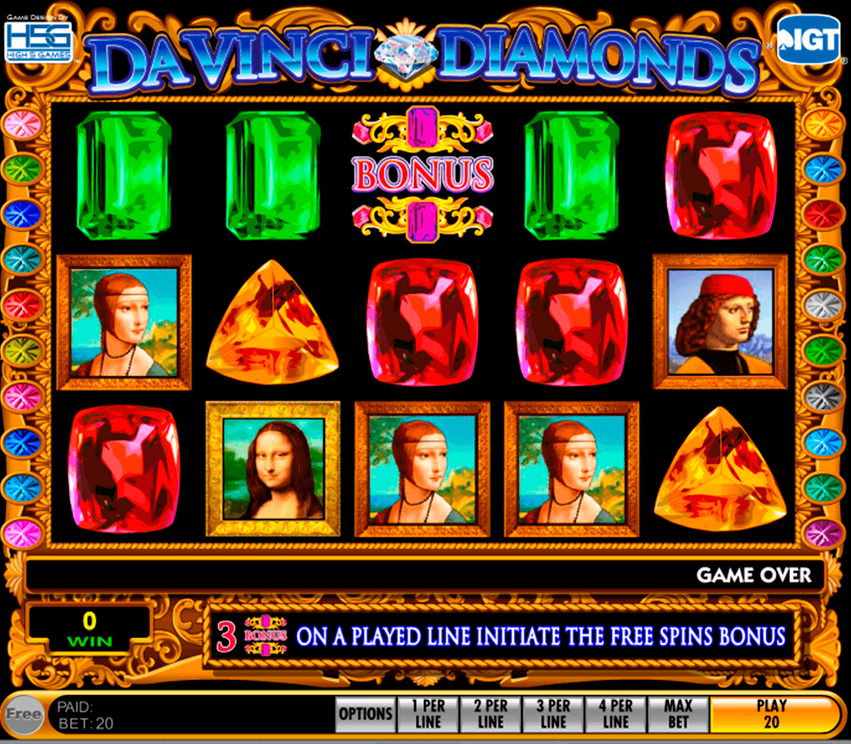 da vinci diamonds igt