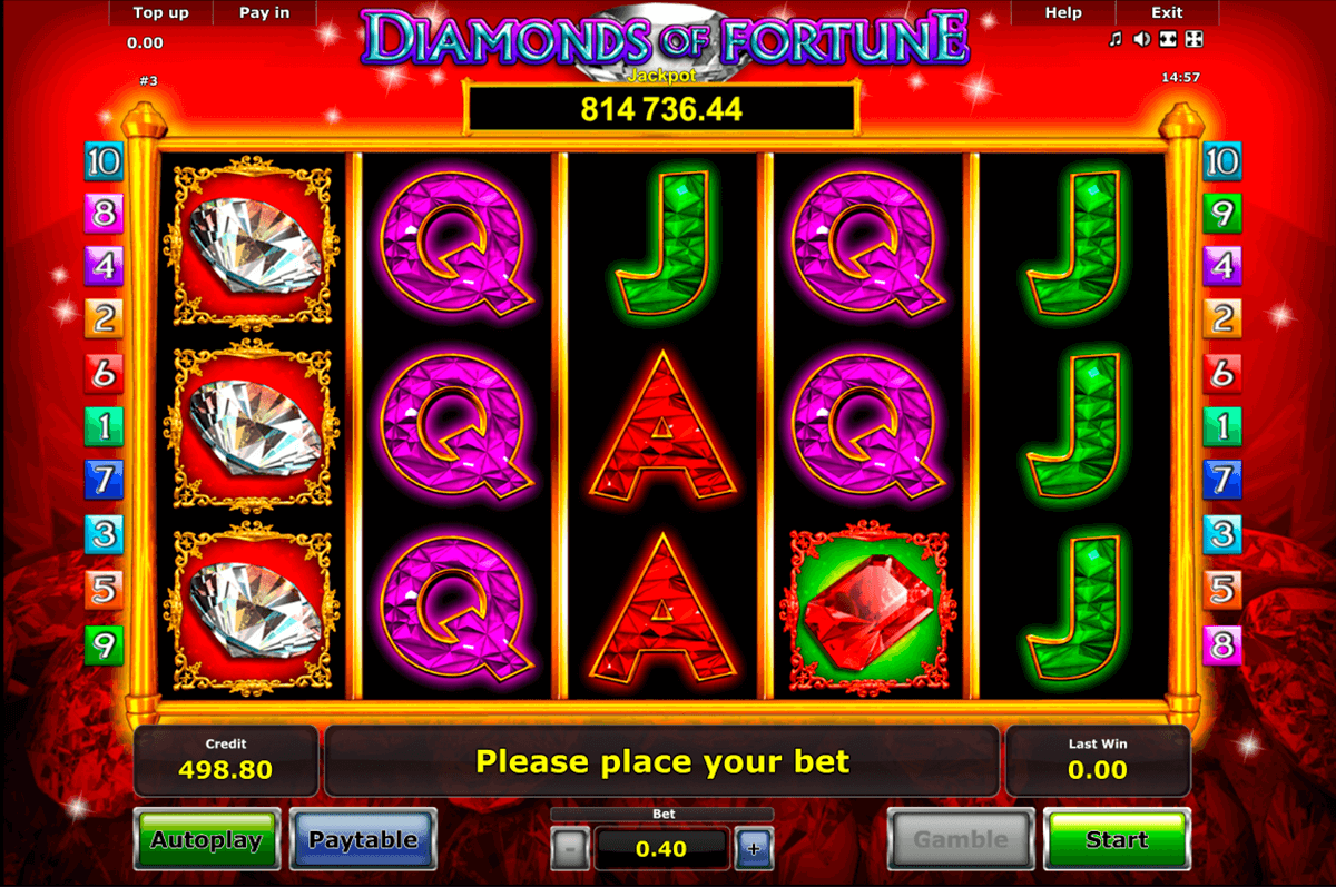 diamonds of fortune novomatic