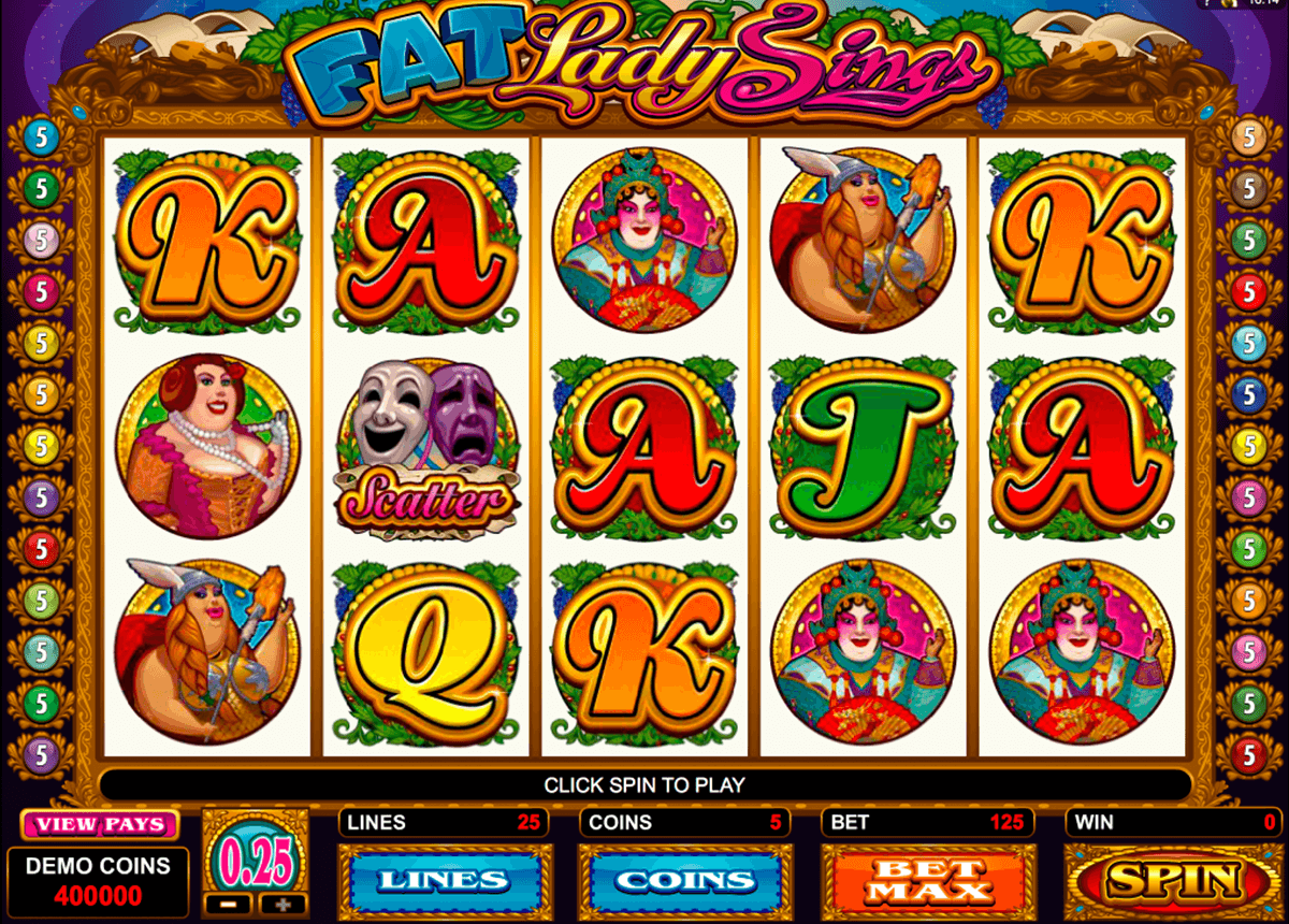 fat lady sings microgaming