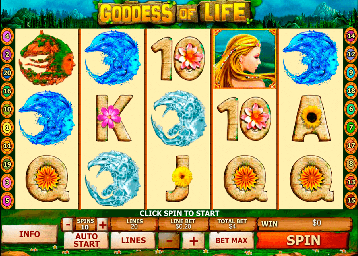 goddess of life playtech