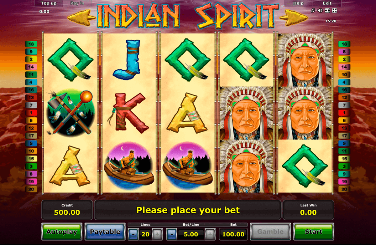 indian spirit novomatic