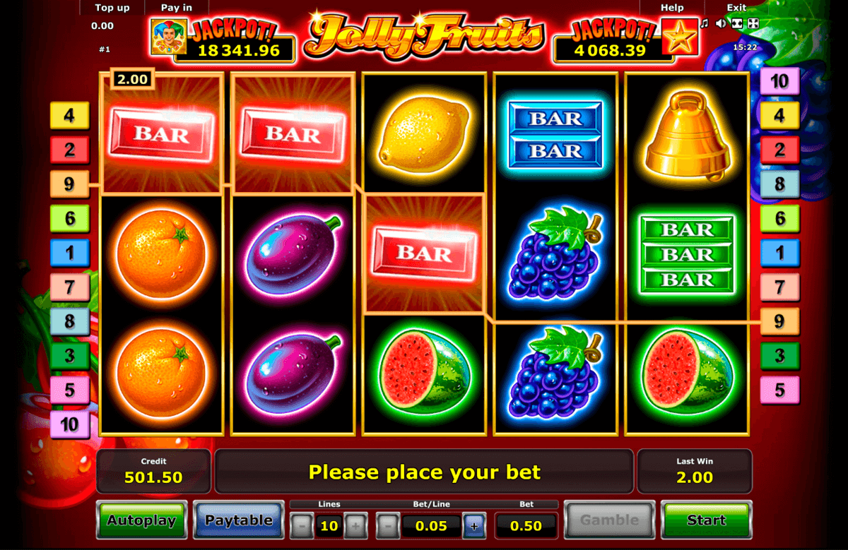 jolly fruits novomatic