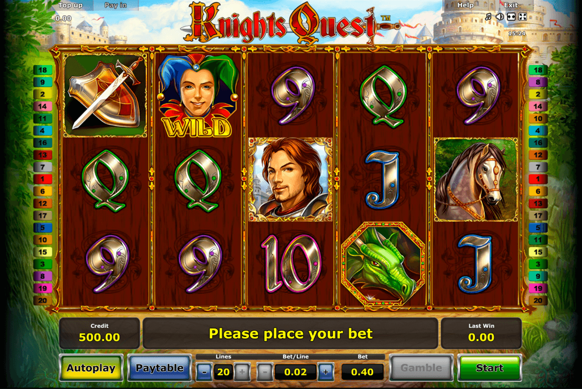 knights quest novomatic