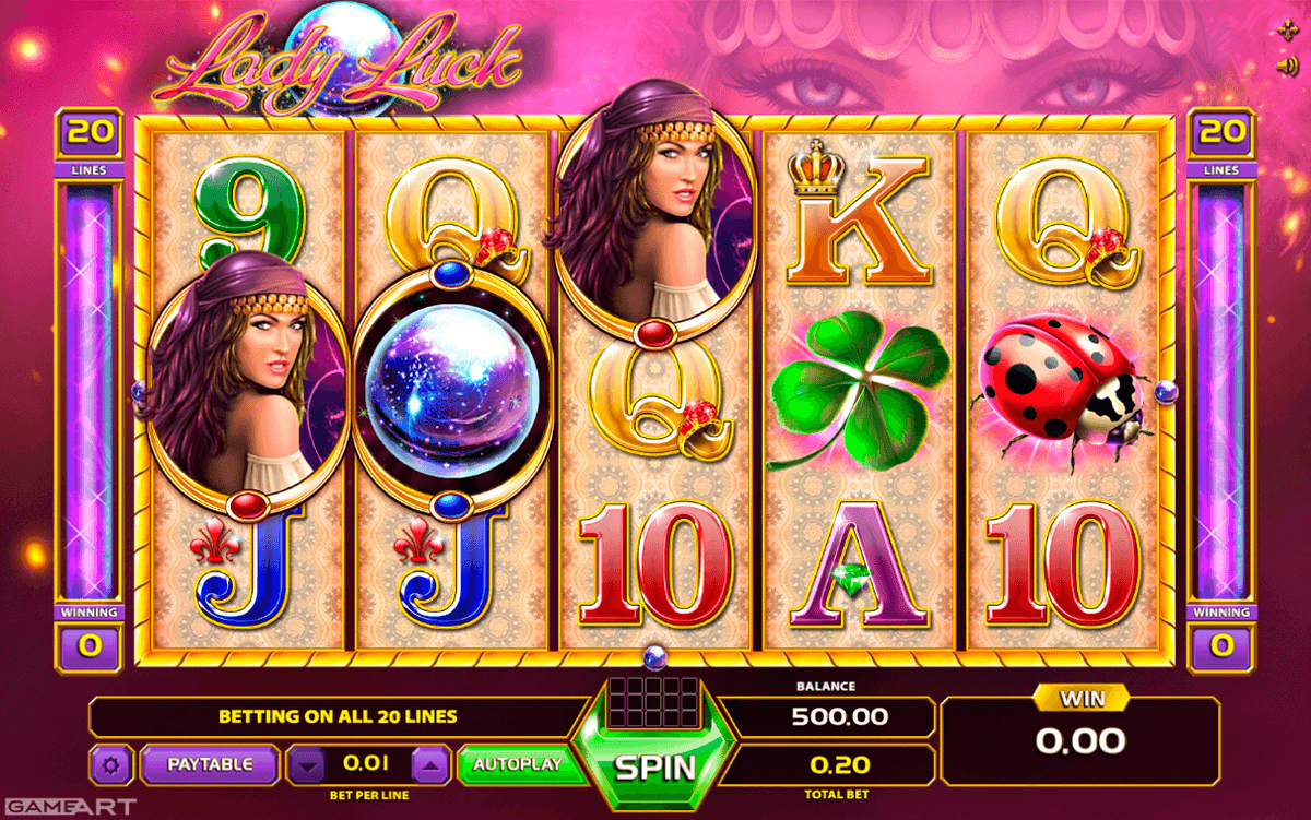 lady luck gameart