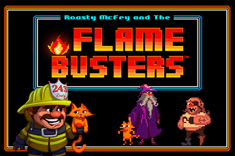logo flame busters thunderkick