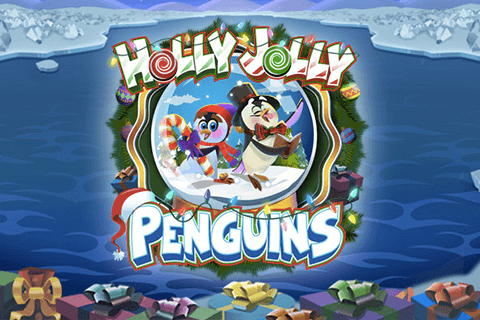 logo holly jolly penguins microgaming