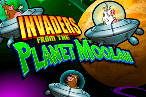 logo invaders from the planet moolah wms