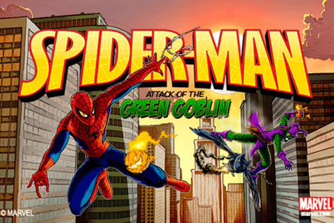logo spider man attack of the goblin playtech
