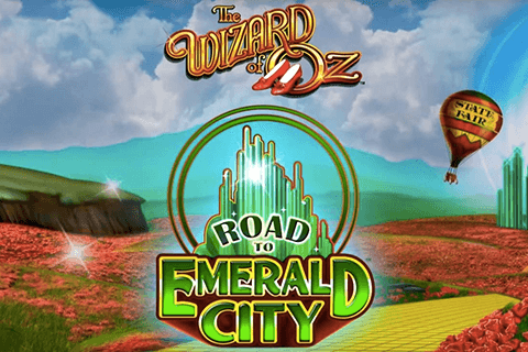 logo the wizard of oz road to emerald city wms