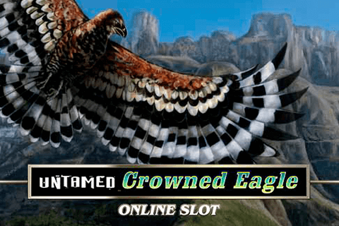 logo untamed crowned eagle microgaming