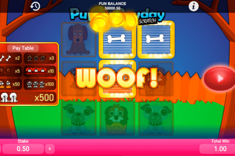 puppy payday scratch 1x2gaming