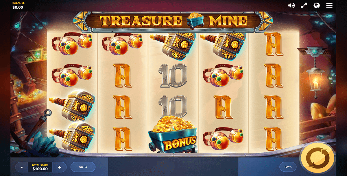 treasure mine red tiger
