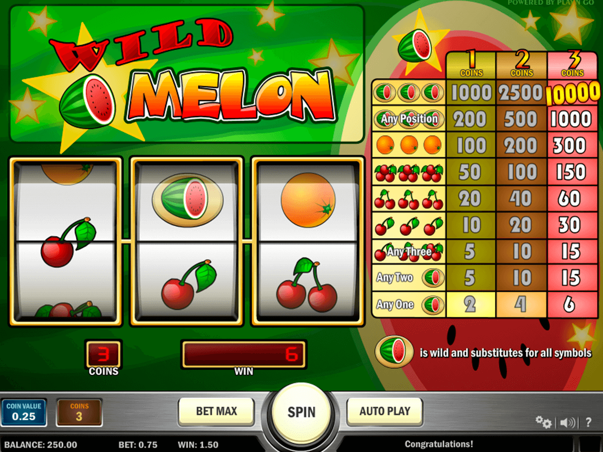 wild melon playn go