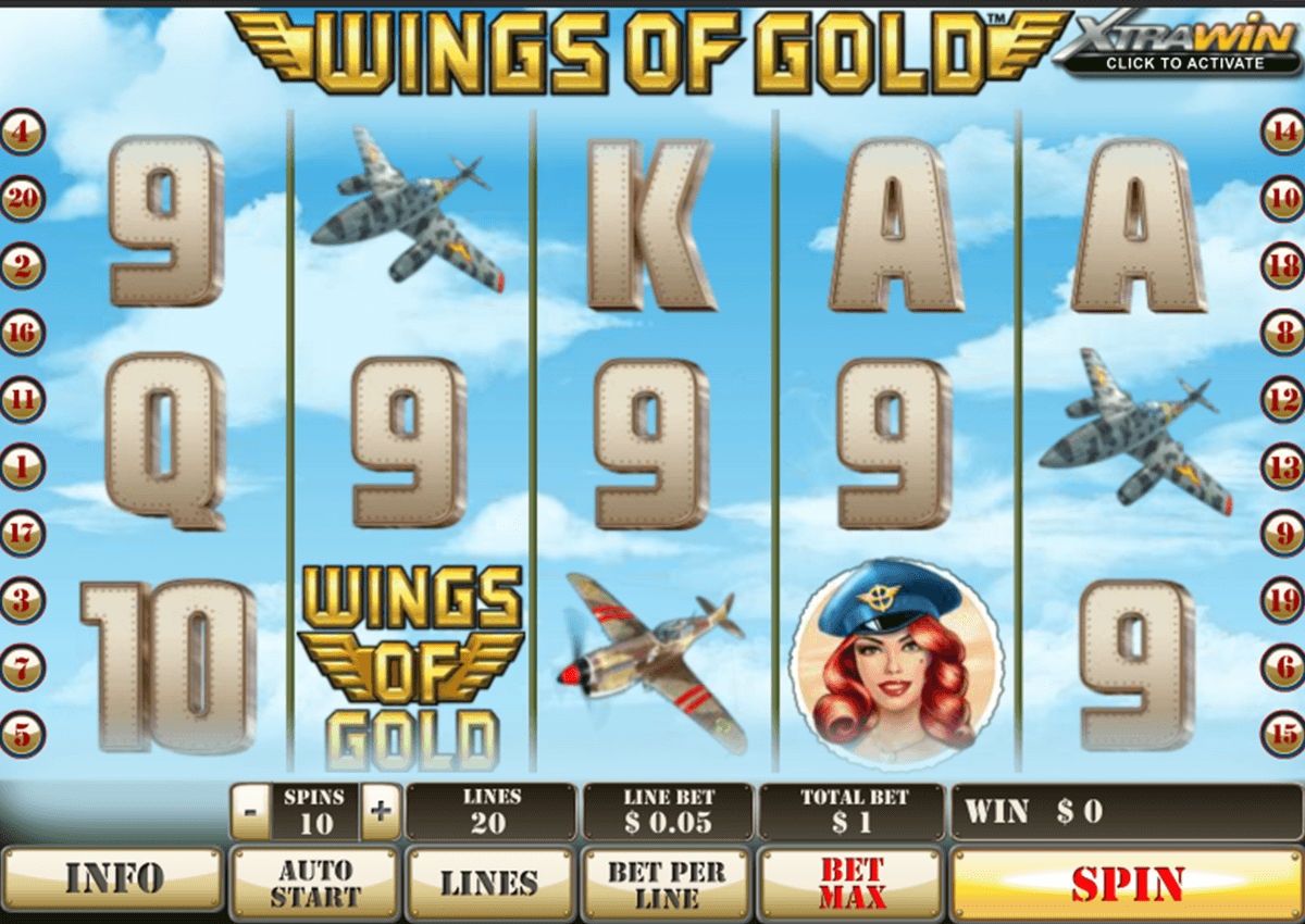 wings of gold playtech